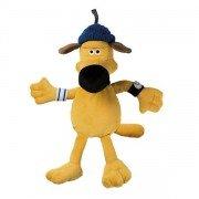 Peluche bouillotte Bitzer, le fidèle chien dans Shaun le mouton, 40 cm