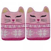 2 Petites chaufferettes Chat Rose chaudes en 1 clic pour réchauffer les mains