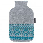 Bouillotte à eau Grise façon tricot 2l - 31 cm