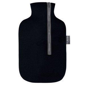 Bouillotte à eau housse néoprène noire, 2 litres