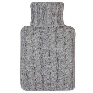 Bouillotte à eau Tricot Gris 30% laine d'agneau, 0,5 Litre