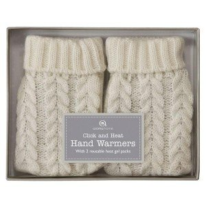 2 chaufferettes gel chauffe-mains en 1 clic Moufles crème