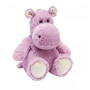 Peluche hippopotame rose bouillotte micro-onde
