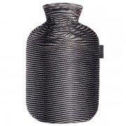 Bouillotte à eau Fausse Fourrure zébrée ultra-douce, 2 litres