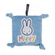 Bouillotte Miffy carré bleu pour bébé avec graines de colza, 15 cm
