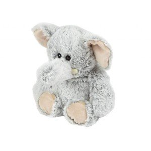 Peluche éléphant déhoussable bouillotte micro-onde