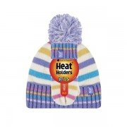 Bonnet et mouffles multicolore ultra chaud enfant avec pompon Heat Holders