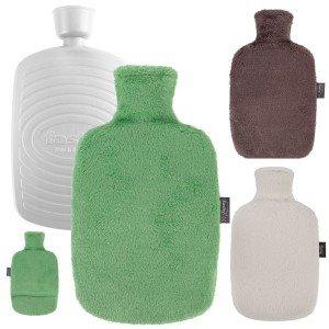 Bouillotte à eau Bioplastique et housse polaire recyclé 1,6l