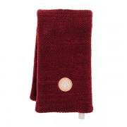 Bandeau chauffant Tricot rouge, graines lin 49x14cm