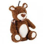 Peluche bouillotte à eau ours brun avec bandeau - 38 cm