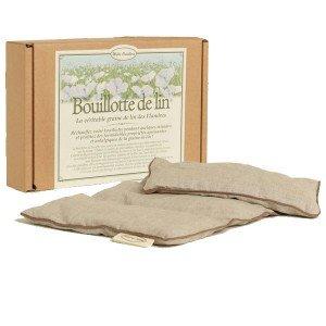 Bouillotte en lin et graines de lin - 40x20cm