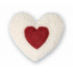 Coeur noyaux de cerise bouillotte en coton - 26cm