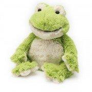 Peluche bouillotte grenouille verte enfant pour micro-onde