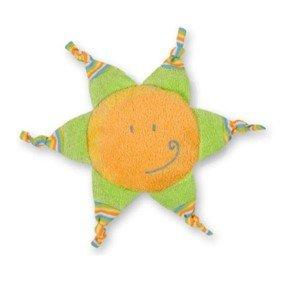 Soleil vert et orange bouillotte bébé noyaux de cerise - 25 cm