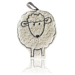 Mouton bouillotte toute douce aux noyaux de cerise - 16 cm