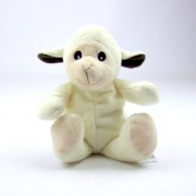 Mini bouillotte mouton blanc, peluche micro-ondable déhoussable