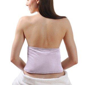 Ceinture chauffante pour soulager le dos, velours mauve déhoussable