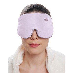 Masque yeux relaxant mauve avec graine de lavande relaxant