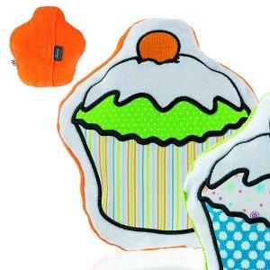 Bouillotte bébé Cupcake orange graines de colza, 17 cm