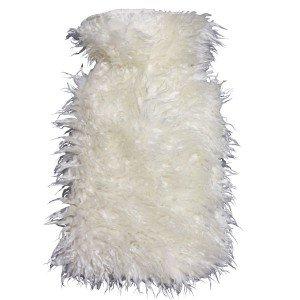 Bouillotte à eau caoutchouc Mouton poils longs, 2 litres
