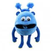 Marionnette avec couineur bébé Monstre bleu