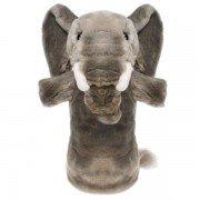 Marionnette enfant à longue manche Eléphant gris