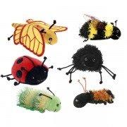 6 Marionnettes à doigts insectes