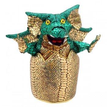 Marionnette dragon dans son oeuf, 20cm
