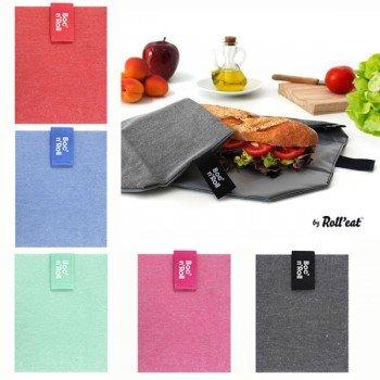 Emballage sandwich lavable et ajustable Uni, avec velcro, 54x32cm
