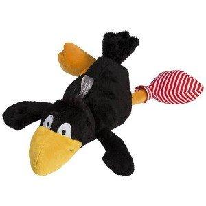 Peluche bouillotte Chaussette le corbeau, 30 cm