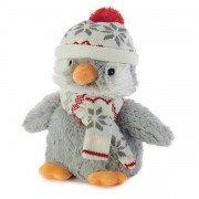 Bouillotte Pingouin peluche chauffante pour micro-ondes