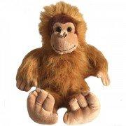 Grande peluche bouillotte Orang-outan, déhoussable - 38 cm