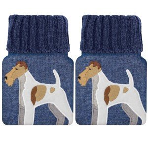 2 Mini Bouillotte Fox Terrier pour réchauffer les mains