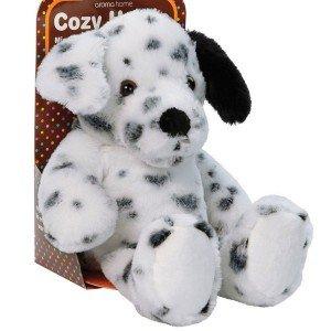 Petite bouillotte chien Dalmatien chauffante au micro-ondes - 25 cm