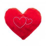 Bouillotte coussin coeur déhoussable graines de millet double coeur