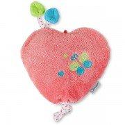 Bouillotte nourrisson Coeur Rose déhoussable, 1 mois+ de Sterntaler