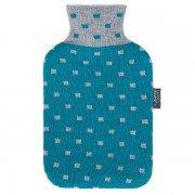 Bouillotte à eau Turquoise façon tricot 2l - 33 cm