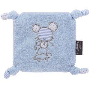 Bouillotte carré pour bébé housse polaire avec perles de silice, 15 cm