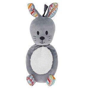 Bouillotte enfant Lapin Gris déhoussable et micro-ondable, 25 cm
