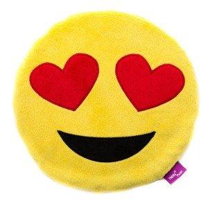 Bouillotte déhoussable Emoji Smiley et graines de millet, 27 cm