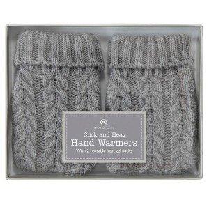 2 chaufferettes gel pour chauffer les mains en 1 clic Moufles gris
