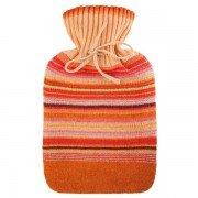 Bouillotte à eau Rayée Orange parfumée Jasmin et bois de Santal, 2 litres