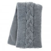 Bandeau chauffant Tricot gris et fil doré - 45x14cm