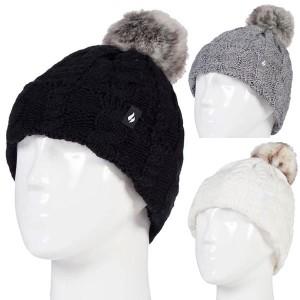 Bonnet avec pompom ultra chaud pour femme Heat Holders