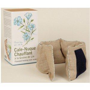 Cale-nuque chauffant anti-douleurs graines de lin coton bio de Mille Oreillers