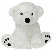 Peluche bouilotte ours polaire à chauffer au micro-onde