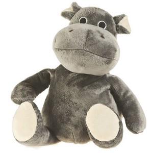 Peluche bouillotte Hippopotame gris grains de blé et lavande, à chauffer au micro-onde