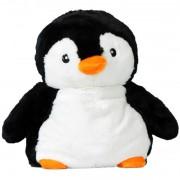 Bouillotte peluche Pingouin grains de blé et lavande, à chauffer au micro-onde
