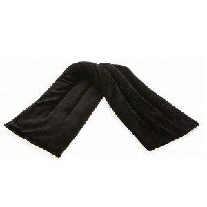 Tour de cou chauffant au micro-onde Noir, 60 cm