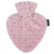 Bouillotte à eau coeur Rose 0,7l - 25 cm